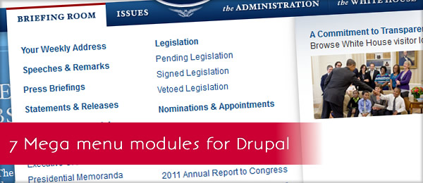 7 Mega Menu modules for Drupal | Mega Drupal