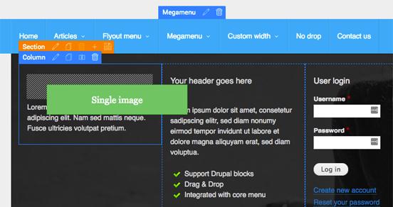 drupal themes with megamenu
