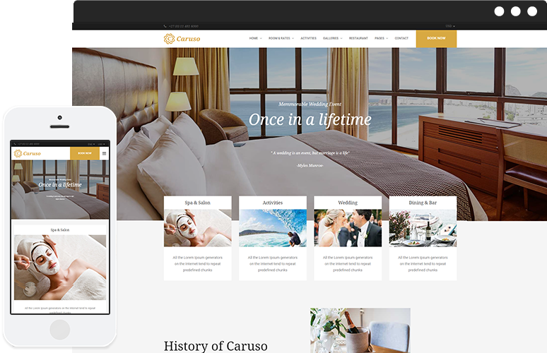MD Caruso  Drupal Theme